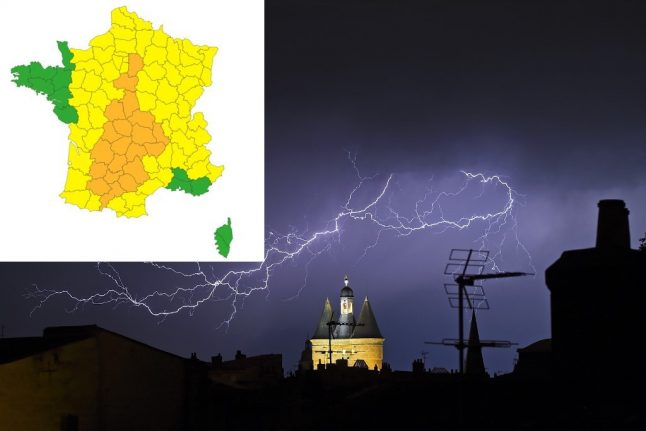 UPDATE: Storm warnings issued for central and southern France