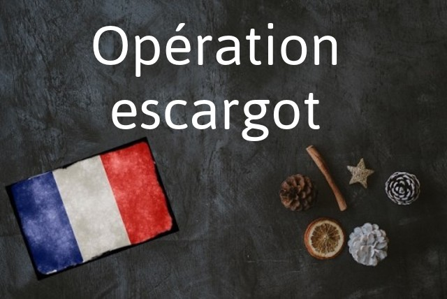 French phrase of the Day: Opération escargot
