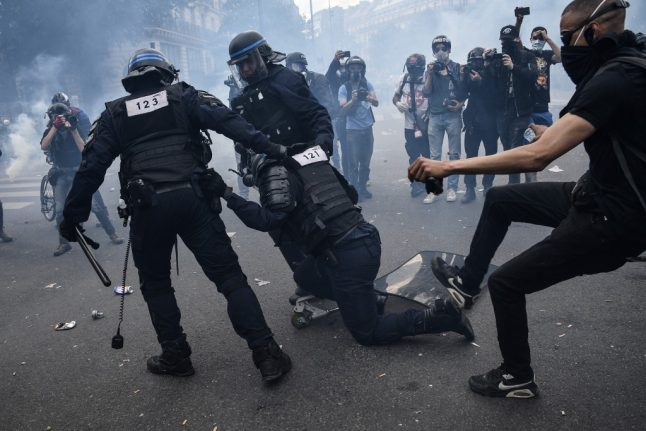 Protesters clash with police at anti-racism protests across France