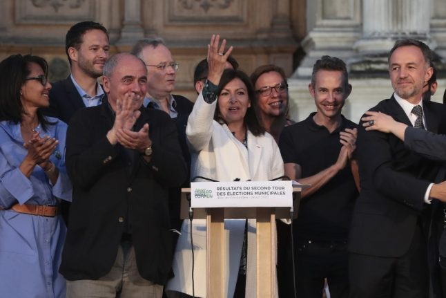 Anne Hidalgo vows to build the 'Paris of tomorrow' after being re-elected as mayor