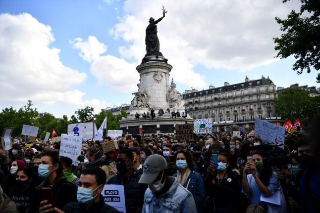 Thousands gather in France calling for action on claims of police racism and brutality