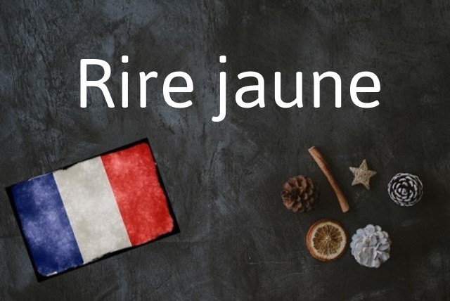 French expression of the day: Rire jaune