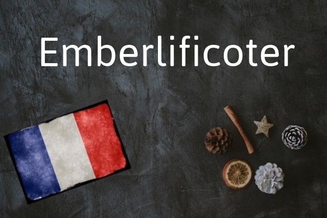 French word of the day: Emberlificoter