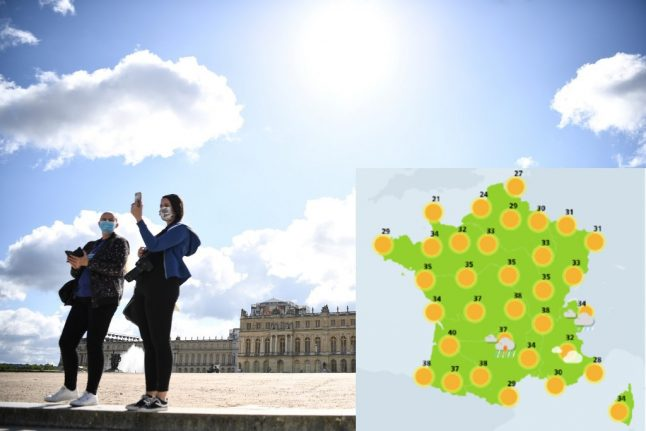 French urged to keep masks on outside as 13 départements placed on heatwave alert
