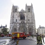 Nantes cathedral fire: Volunteer rearrested and charged with arson