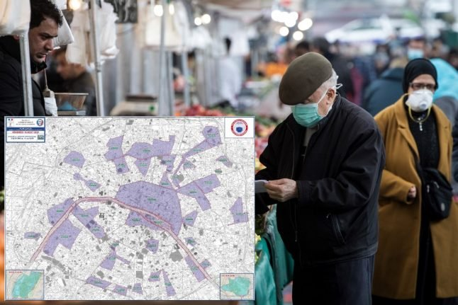 Paris brings in extra health measures and makes face masks compulsory in certain zones
