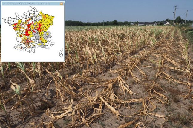 MAP: Where in France has water restrictions in place