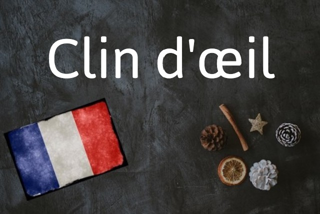 French expression of the day: Clin d'œil