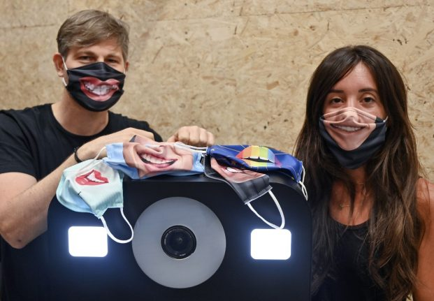 French company launches face masks that 'smile'