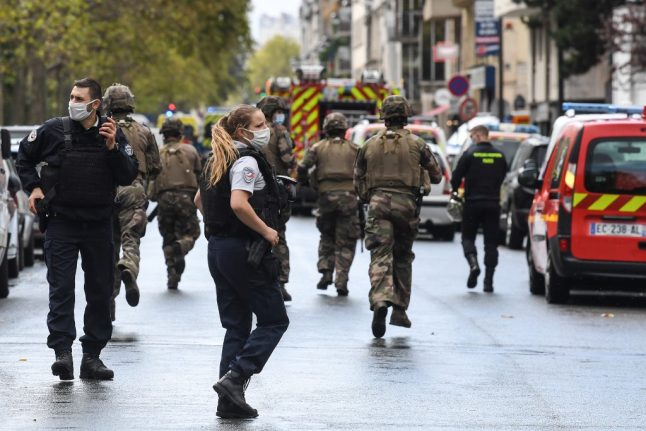 French police study 'terrorism' video claiming responsibility for attack outside former Charlie Hebdo offices