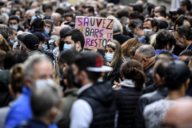 Protests in Covid-hit Marseille over order to close bars and restaurants