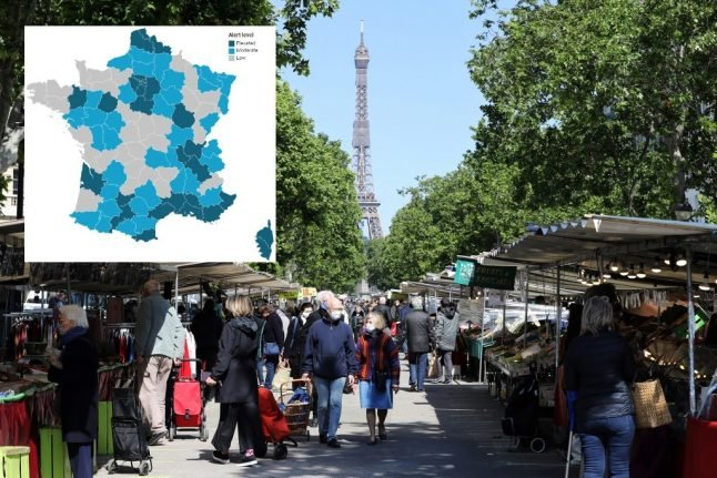 UPDATE: Where are France's 'elevated' and 'moderate' Covid-19 zones?