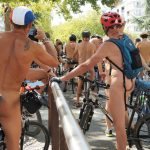 Naked cyclists banned from Paris streets but bare all in Rennes for historic ride