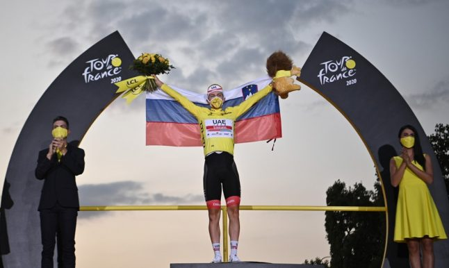 Pogacar crowned Tour de France winner after a delayed race under strict health conditions