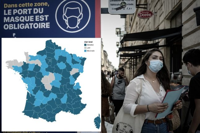MAP: Where in France are Covid-19 cases rising and which areas are low risk?