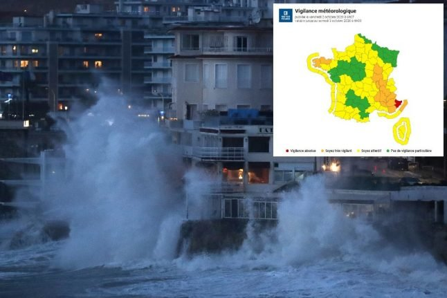 LATEST: Storm Alex lashes France causing flooding and school closures