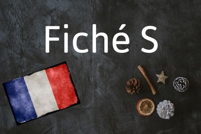 French word of the day: Fiché S