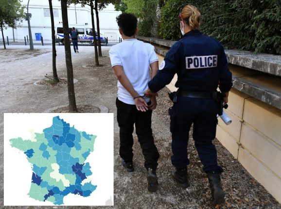 MAP: Where in France has the highest burglary rates?