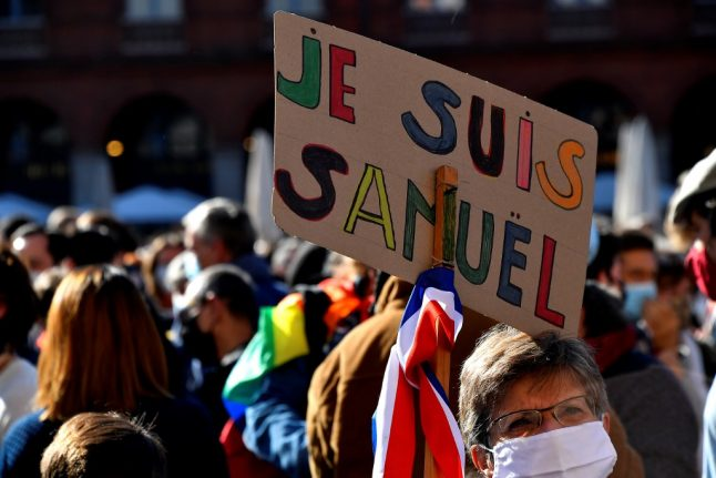IN PICTURES: Thousands rally across France in solidarity after beheading of teacher