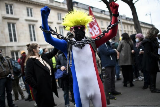 Clashes in Paris over law that could ban publication of images of French police