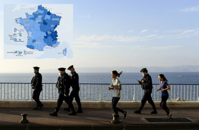 MAP: The areas of France where the Covid-19 situation is still worrying