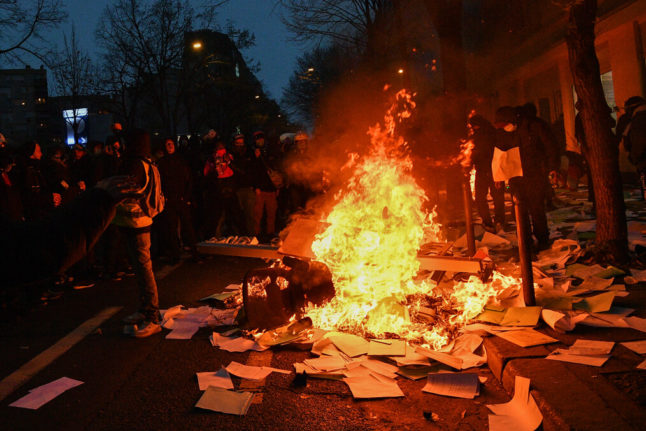 Violence erupts in new Paris protest against security law