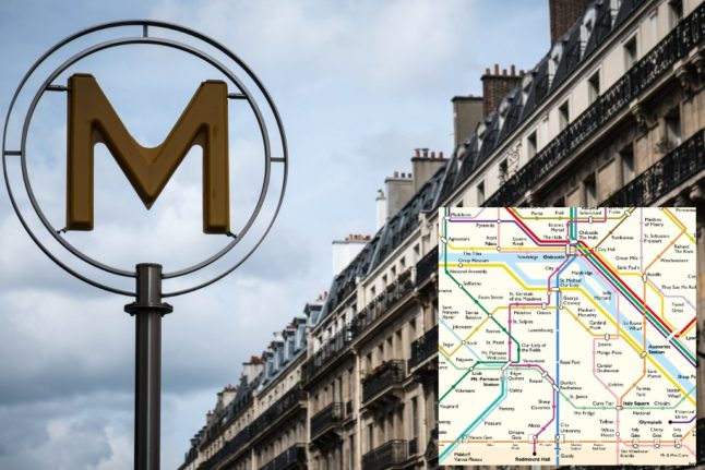 George Clooney to Donkey-on-Seine – The hilarious English version of the Paris Metro map