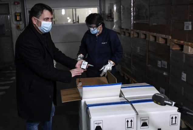 France has received its first delivery of the Pfizer vaccine