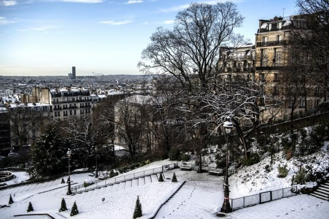 Snow forecast to hit Paris region over weekend