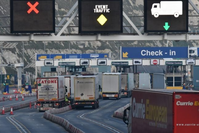 French truckers call for strike action over effects of Covid rules and Brexit