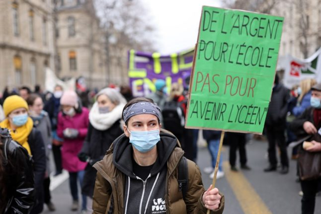 French teachers stage national strike over pay and working conditions