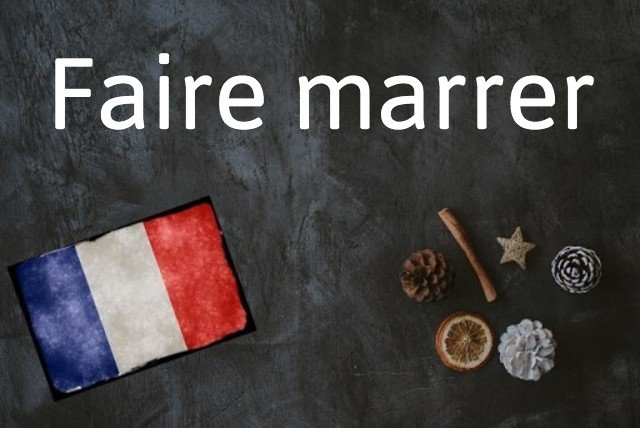 French expression of the day: Faire marrer