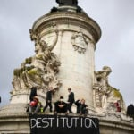 New protests in France over security law