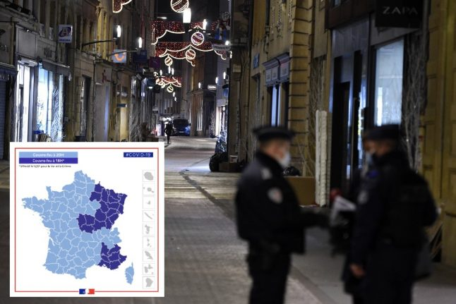 MAP: The 25 départements in France with a 6pm curfew