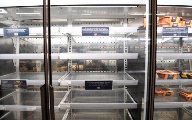 Marks & Spencer closes a Paris store after weeks of Brexit-related food shortages