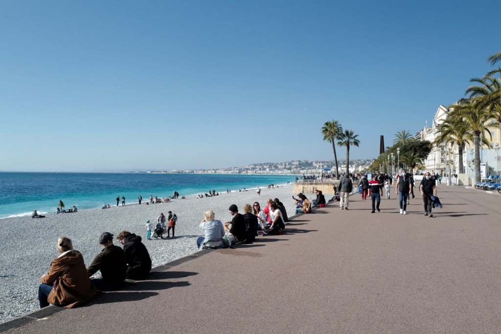 Nice and parts of French Riviera impose weekend lockdown as Covid cases soar