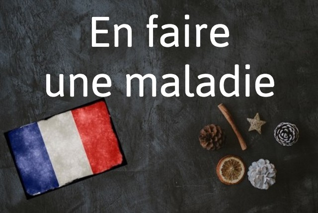 French phrase of the day: En faire une maladie