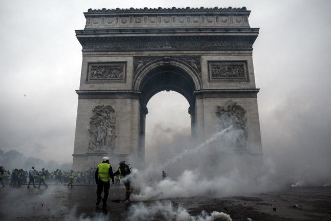 What happened to the rioters who trashed the Arc de Triomphe during yellow vest violence?