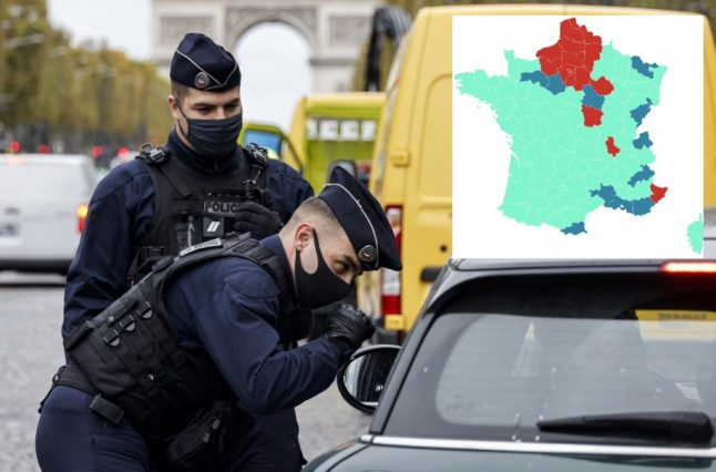 MAP: Is your French département at risk of being placed under 'lockdown light'?