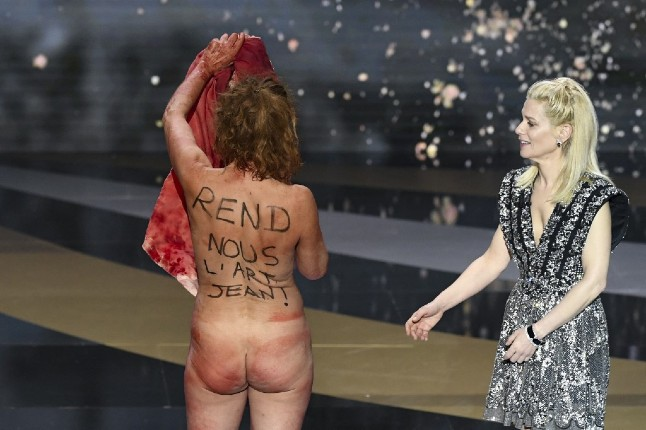Bye Bye Morons wins France's Oscars at ceremony marked by naked protest