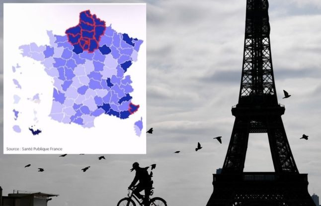 MAP: These are the 16 parts of France under new lockdown