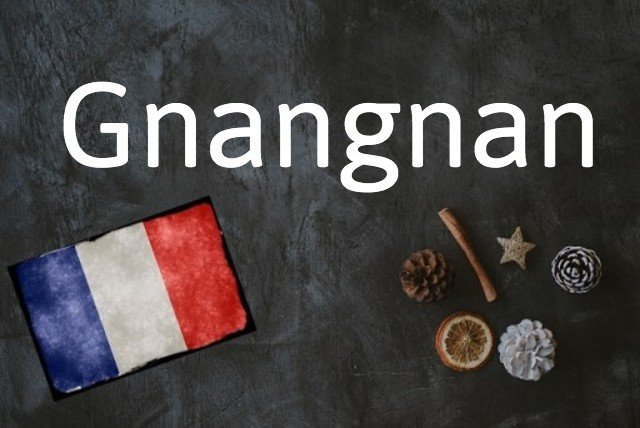 French word of the day: Gnangnan