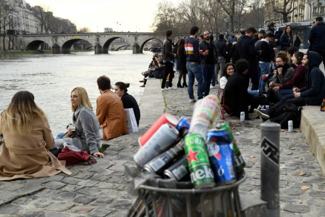 France to ban outdoor drinking under new virus restrictions