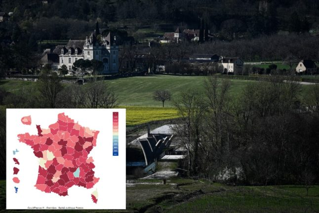 MAP: The parts of rural France where Covid rates are rising the fastest