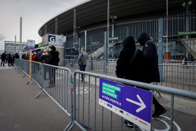 Stade de France becomes giant vaccine centre with space for 10,000 injections a week
