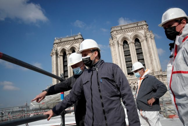 Paris' fire-damaged Notre-Dame cathedral 'on course to reopen in 2024'