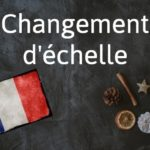 French phrase of the day: Changement d'échelle