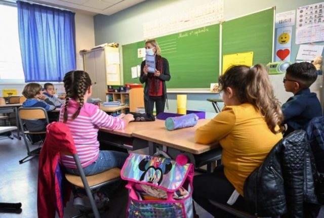 What is 'inclusive writing' and why is it banned in French schools?