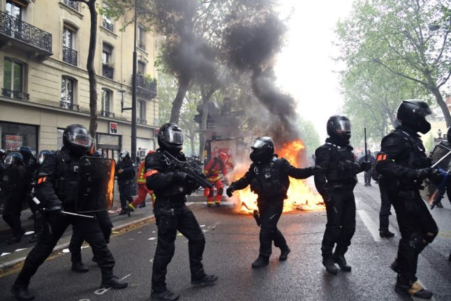 IN PICTURES: Scuffles and arrests in Paris as thousands mark May Day across France