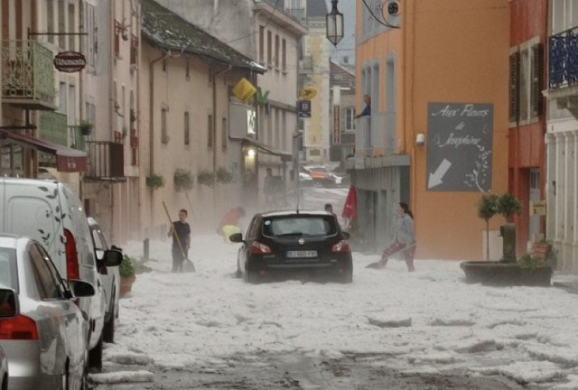 IN PICTURES: French town hit by freak June hailstorm